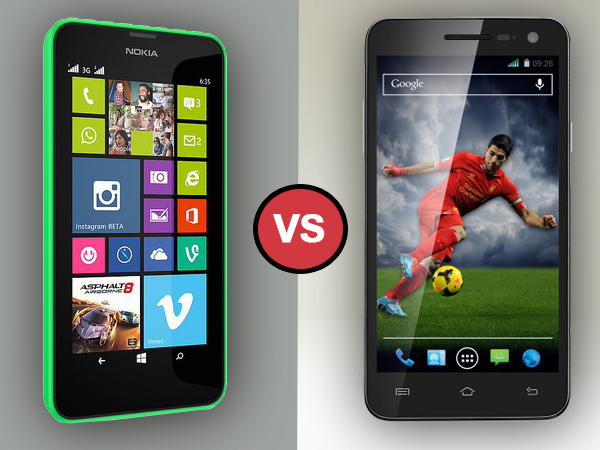 Xolo Q1011 Vs Nokia Lumia 630 Dual: Specs Comparison