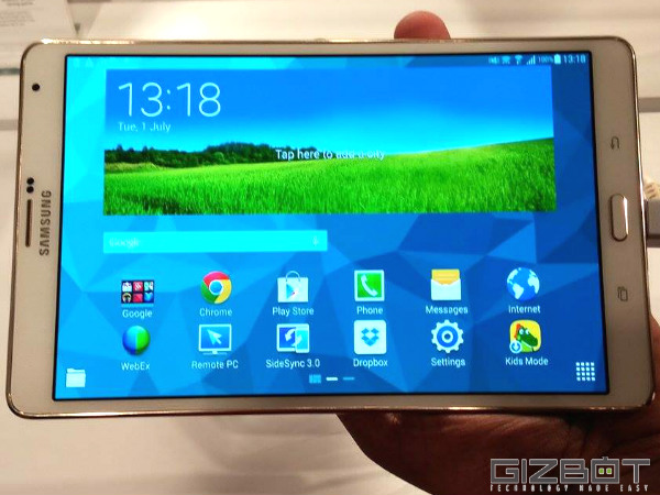 Galaxy Tab S: Finger Print Sensor, Kids' Mode and Other Features