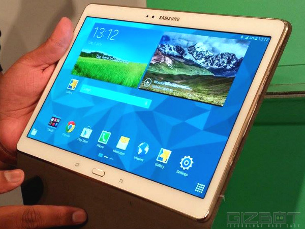 Samsung Galaxy Tab S 10.5 Vs Apple iPad Air: Display
