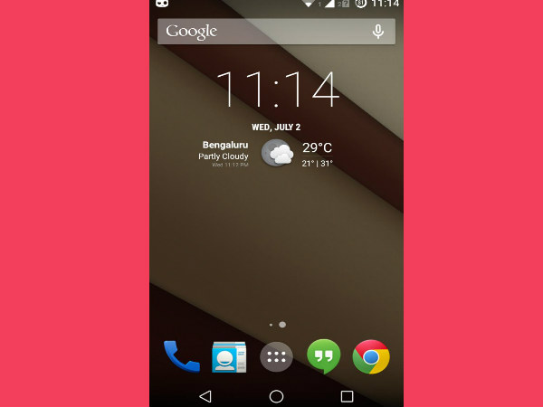 Android L Theme: Home Screen