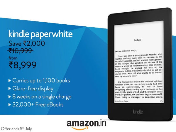 Amazon Discount: New Kindle Paperwhite Now Available For Rs 8,999
