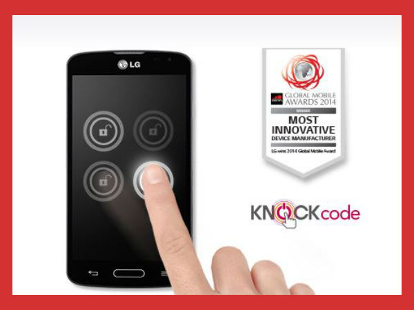 LG F70 Features: Added Security Via Knock Code