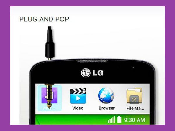 LG F70 Features: Plug and Pop