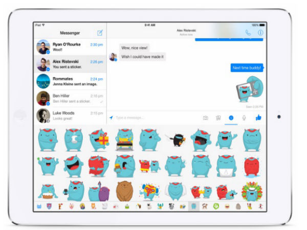 Facebook Messenger For iPad Finally Launches With Support For Stickers