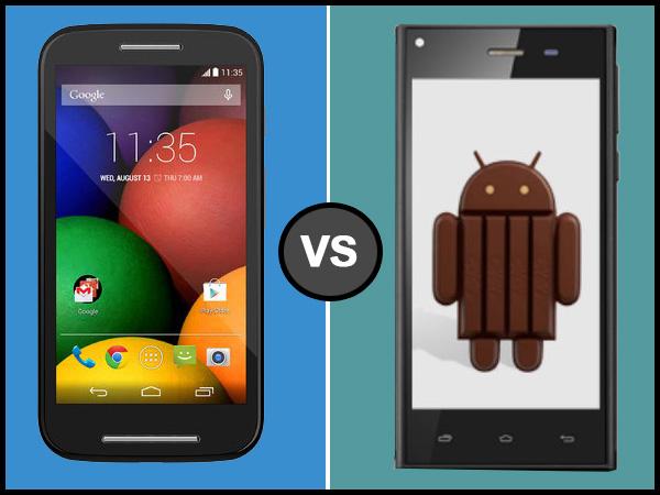 Xolo Q600s Vs Motorola Moto E: Specs Comparison