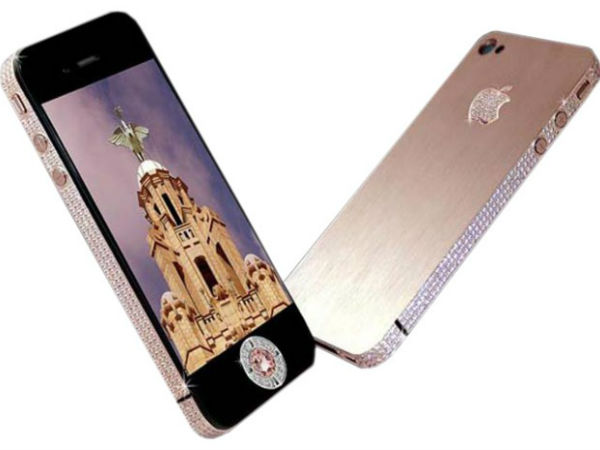Most Expensive Mobile Phones: Diamond Rose iPhone 4 32GB