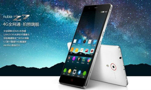 ZTE Officially Launches Nubia Z7,  Z7 Max and Z7 Mini Smartphones