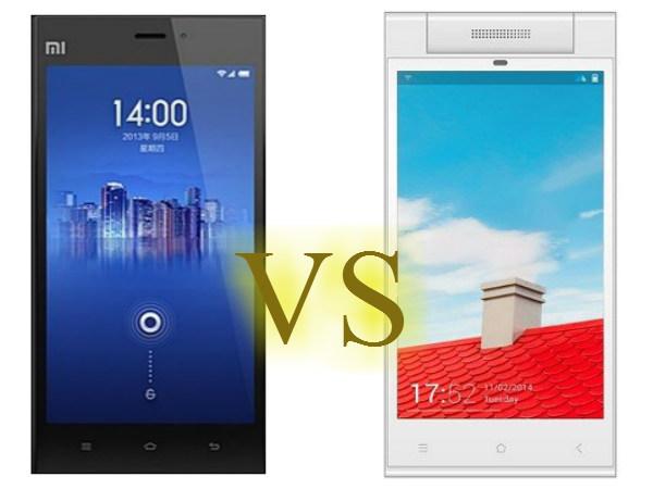 Xiaomi Mi3 vs Gionee Elife E7 Mini: Specs Comparison