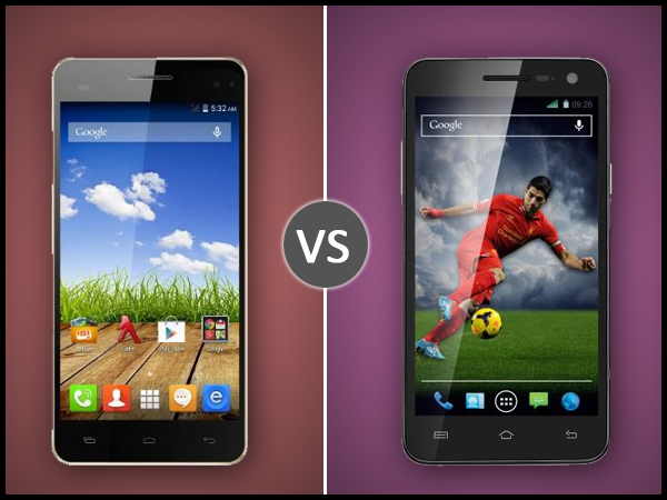 Micromax Canvas HD Plus A190 Vs Xolo Q1011: Specs Comparison
