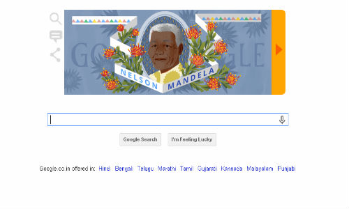 Google Doodle Pays Tribute to Nelson Mandela on His 96th Birthday