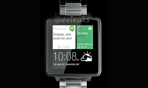 HTC's Android Wear Smartwatch Concept Render Hits Online