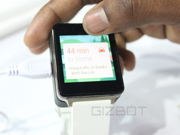 LG G Watch -- Battery and Charging.