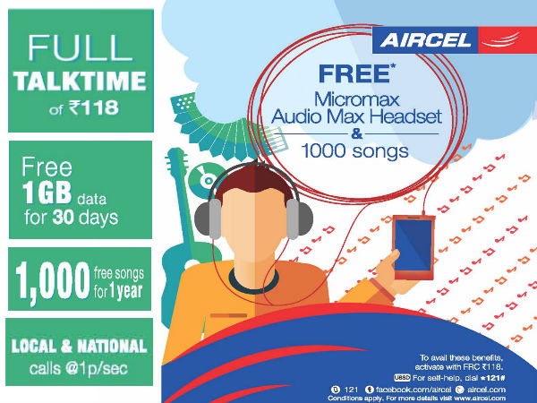 Aircel Launches Micromax Canvas Beat With 3G Music Offer at Rs 9,999