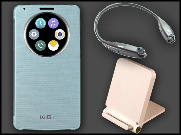 LG QuickCircle Case, Tone Infinim, Wireless Charger Hands On [VIDEO]