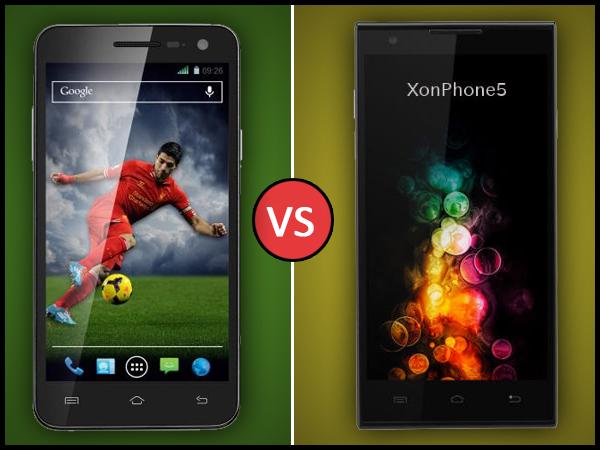 Oplus XonPhone 5 Vs Xolo Q1011: Specs Comparison