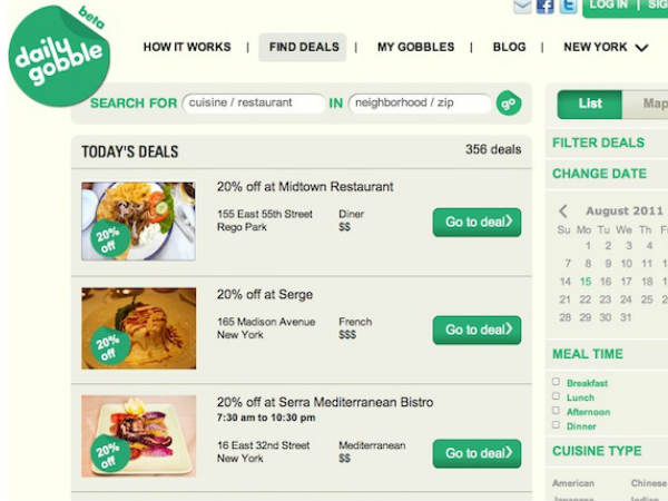 Top Restaurant Apps: DaliyGobble