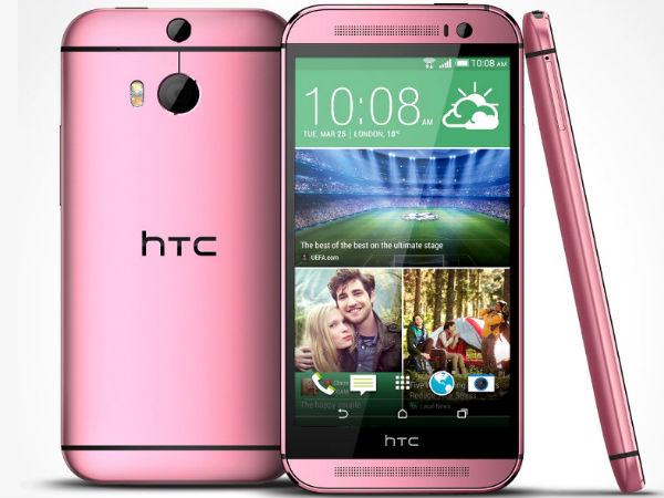 HTC One M8 in Pink and Red Now Official
