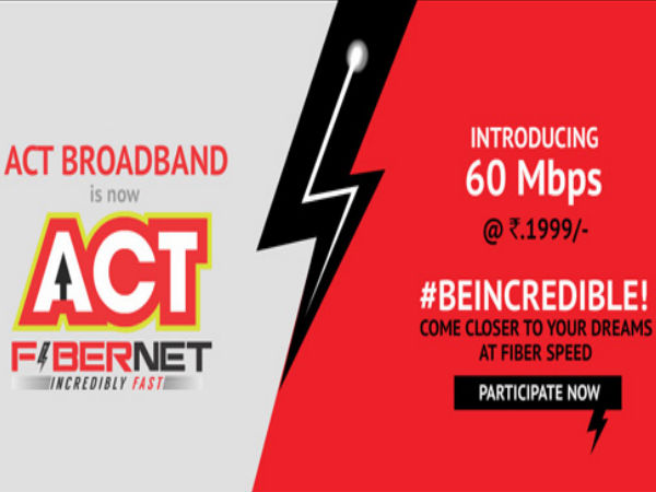 Act Broadband Launches New 60mbps Plan At Rs 1 999 In