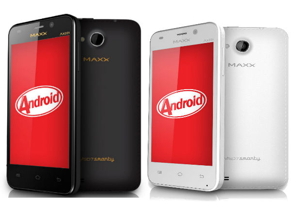 Maxx MSD7 Smarty AXD21 Launched With KitKat OS for Rs 4,020
