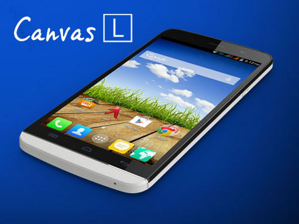Micromax Canvas L A108 With 5.5-inch Display, KitKat OS to Launch Soon