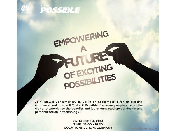Huawei Starts Sending Out Press Invites for IFA 2014