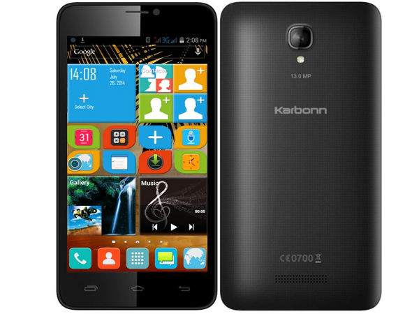 Karbonn Titanium S19 With 13MP Camera Up For Sale At Rs 8,999
