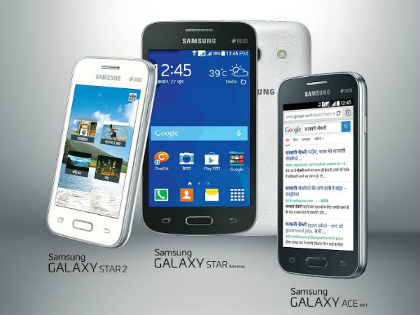 Samsung Galaxy Star 2, Galaxy Star Advance and Galaxy Ace NXT Launched