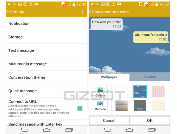 LG G3 Tips and Tricks: Message Conversation Theme