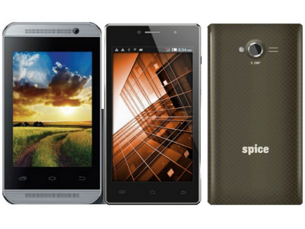 Spice Smart Flo Mi-359, Stellar 451 3G Available For Rs 2899, Rs 5499