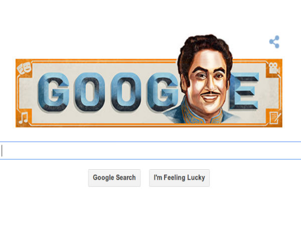 Google Celebrates Kishore Kumar's 85th Birth Anniversary Via Doodle