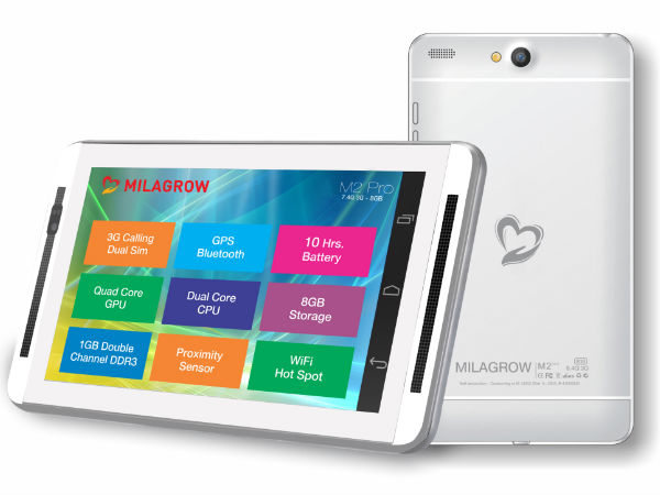 Milagrow M2Pro 3G Call Android Tablet Series Launched At the Starting
