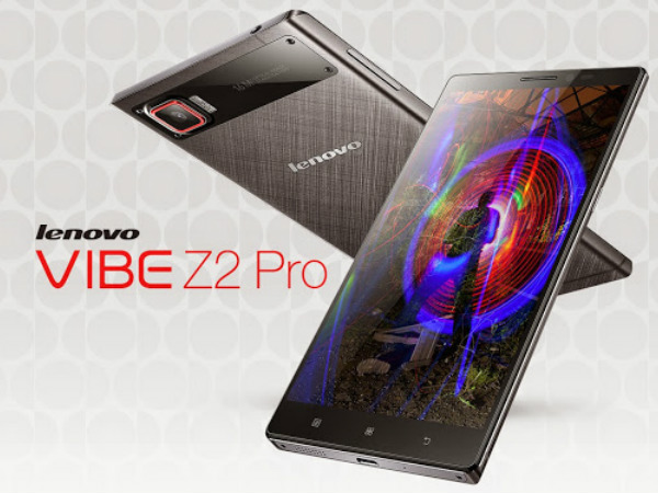 Lenovo Vibe Z2 Pro Launched with 6 Inch QHD Display