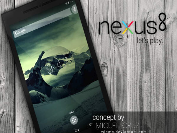 HTC Nexus 8: Highlighted Specifications