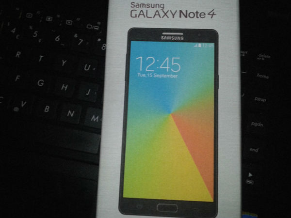 Samsung Galaxy Note 4: Image of Smartphone's Retail Box Appears Online