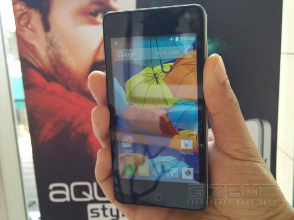 Intex Launches Aqua Style Smartphone with Android KitKat At Rs 5,990