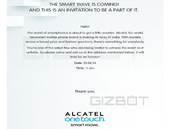 Alcatel Latest Press Invite Teases New Smartphone Release