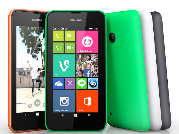 Nokia Lumia 530 Dual SIM Up For Sale At Rs 7,199 in india