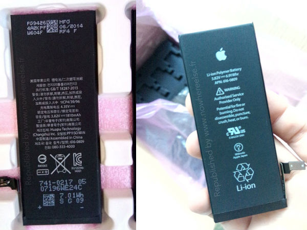 Apple iPhone 6 Latest Image Leak Confirms Battery Capacity