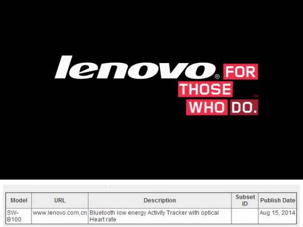 Lenovo SW-B100 Wearable Fitness Band Leaks Online