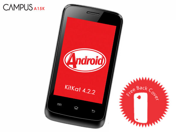 Celkon Launches Campus A15K With Android KitKat For Rs 3,449
