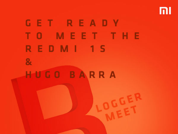Xiaomi Redmi 1S India Launch Date Set For August 26