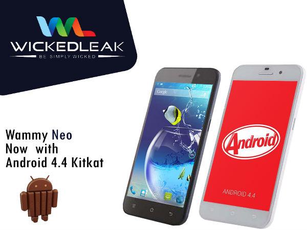 Wickedleak To Treat Wammy Neo With KitKat Upgrade Starting September 1