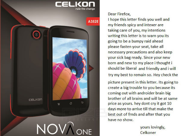 Exclusive: Celkon A352E Nova One Coming in September