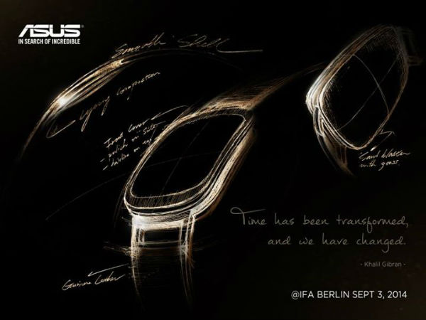 Asus Teases Smartwatch With Curved Display Ahead of IFA 2014
