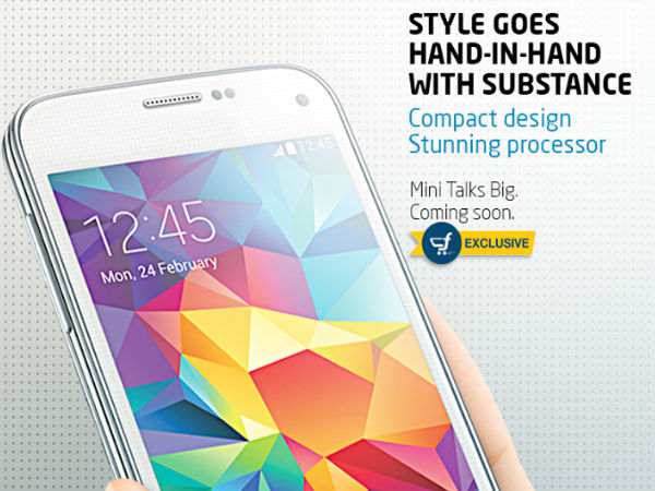 Samsung To Exclusively Sell Galaxy S5 Mini Via Flipkart