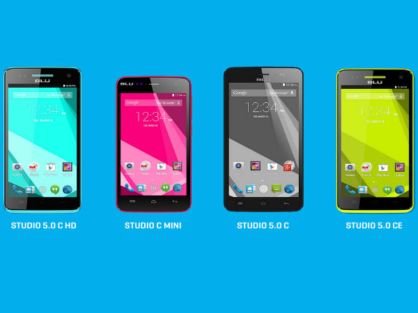 Blu Announces Studio C Series of Smartphones with Android KitKat, More