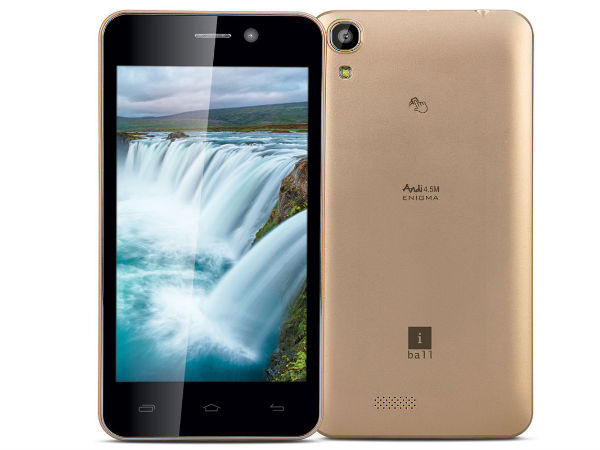 iBall Andi 4.5M Enigma with 8MP Frontal Camera Launched at Rs 8,499