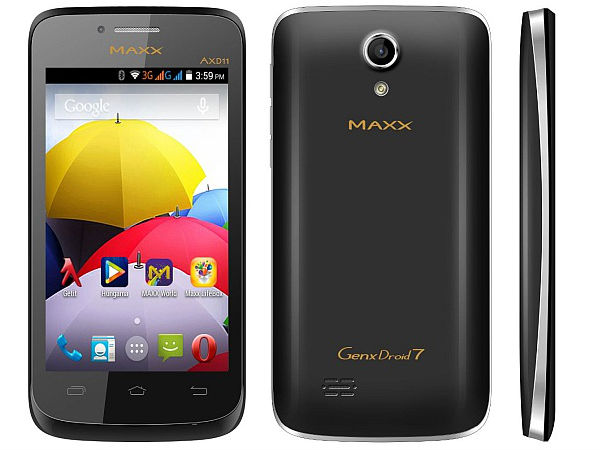 Maxx Launches AXD11 GenXDroid7 Smartphone at Rs 3,890