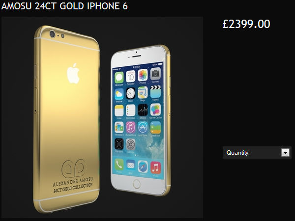 Apple iPhone 6 In 24K Gold Casing By Amosu Up For Pre-Orders