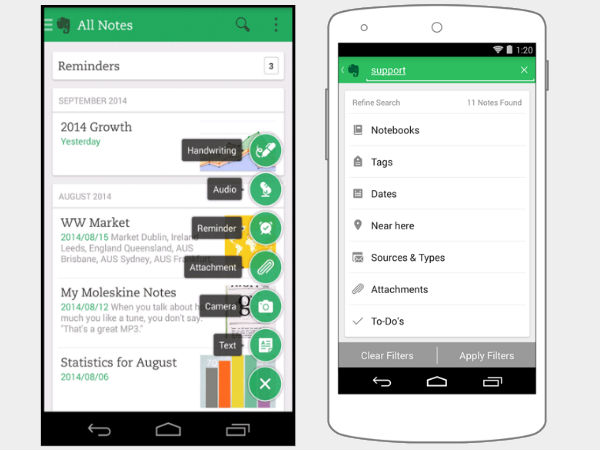 Evernote 6 for Android Gets Interface Makeover and New Features